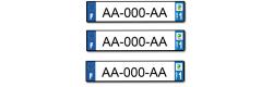 Lot de 3 plaques longues aluminium 520x110mm