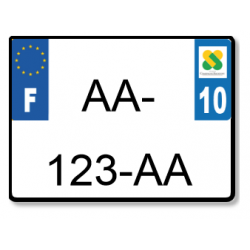 Plaque standard 1er Prix en Aluminium 275x200 mm (format carré)