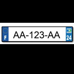 Plaques express (Aluminium) - Expédition sous 24H