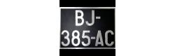 Plaques noires aluminium de collection 210x130 mm
