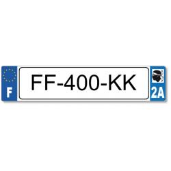 Plaque standard Homologuée en PLEXIGLAS® 520x110 mm avec liseré