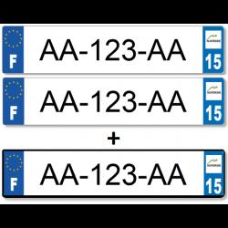 1 lot de 3 plaques soit 2 longues en PLEXIGLAS® + 1 longue en Aluminium (remorque, porte vélo...)