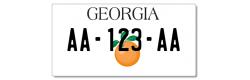 Plaque US PLEXIGLAS® 300x150mm - Georgia