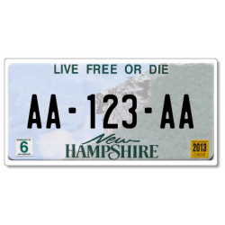 Plaque US PLEXIGLAS® 300x150mm - New Hampshire