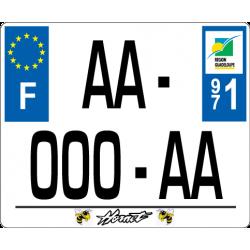 Plaque standard PLEXIGLAS® 170x140mm avec texte sous la plaque