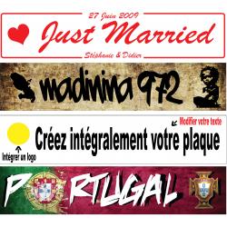Plaque PLEXIGLAS® épaisseur 2 mm 520x110 mm (Forum, mariage, toutes occasions…) entièrement PERSONNALISABLE