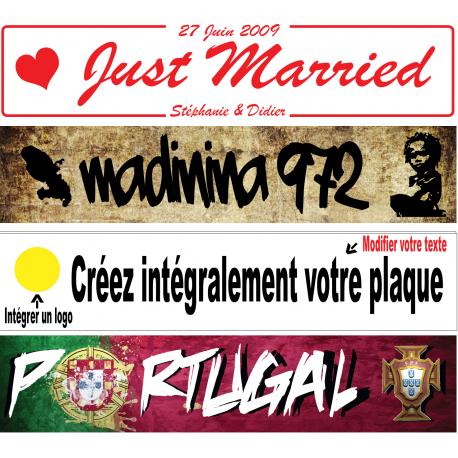 Plaque PLEXI GLASS 2 Mm d'épaisseur 520x110 mm (Forum, mariage, toutes occasions …) Plaque entièrement PERSONNALISABLE