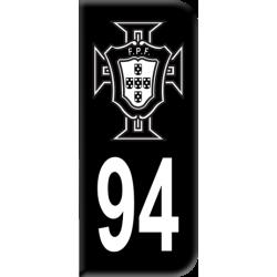 Sticker FPF Noir Département 94