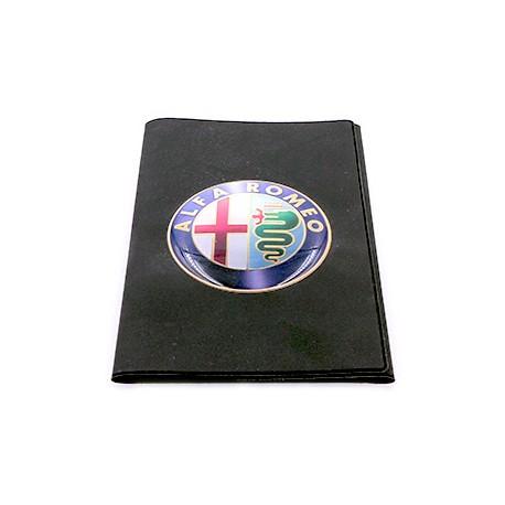 Porte-carte grise Alfa Romeo avec son logo en relief (3D)