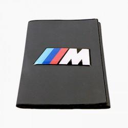 Porte-carte grise BMW Motor Sport avec son logo en relief (3D)